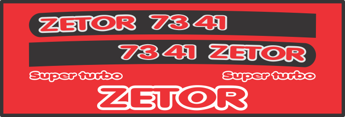 Simaco Nalepnice - Traktori - Zetor | Traktori - Zetor | ZETOR - 7341