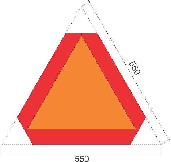 Simaco Nalepnice - Reflektujuće Nalepnice | Reflex - Fluo | tabla za označavanje sporih vozila