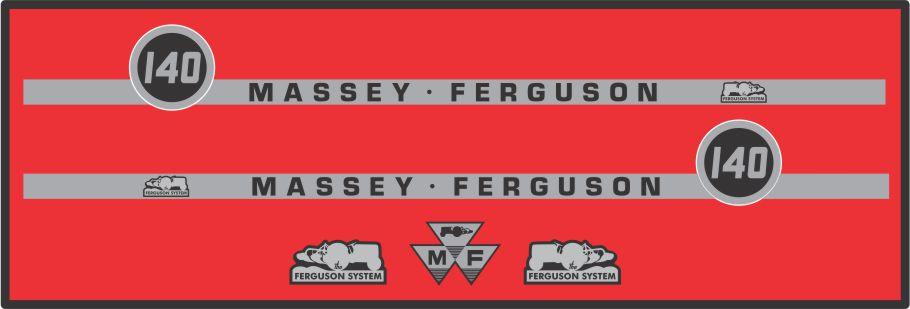 Simaco Nalepnice - Traktori - Massey Ferguson   Traktori - Massey Ferguson   MASSEY FERGUSON - 140