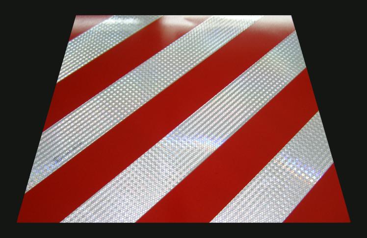 Simaco Nalepnice - Reflektujuće Nalepnice | Reflex - Fluo | Oznaka za teret koji prelazi gabarite vozila - reflektujući