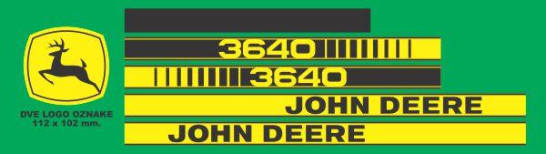 Simaco Nalepnice - Traktori - John Deere | Traktori - John Deere | JOHN DEERE - 3640
