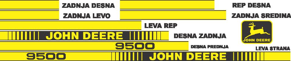 Simaco Nalepnice - Kombajni | Kombajni | JOHN DEERE - 9500